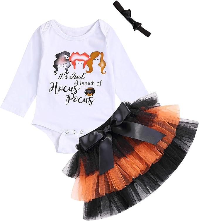 Amazon.com: Halloween recién nacido bebé niñas traje bruja ...