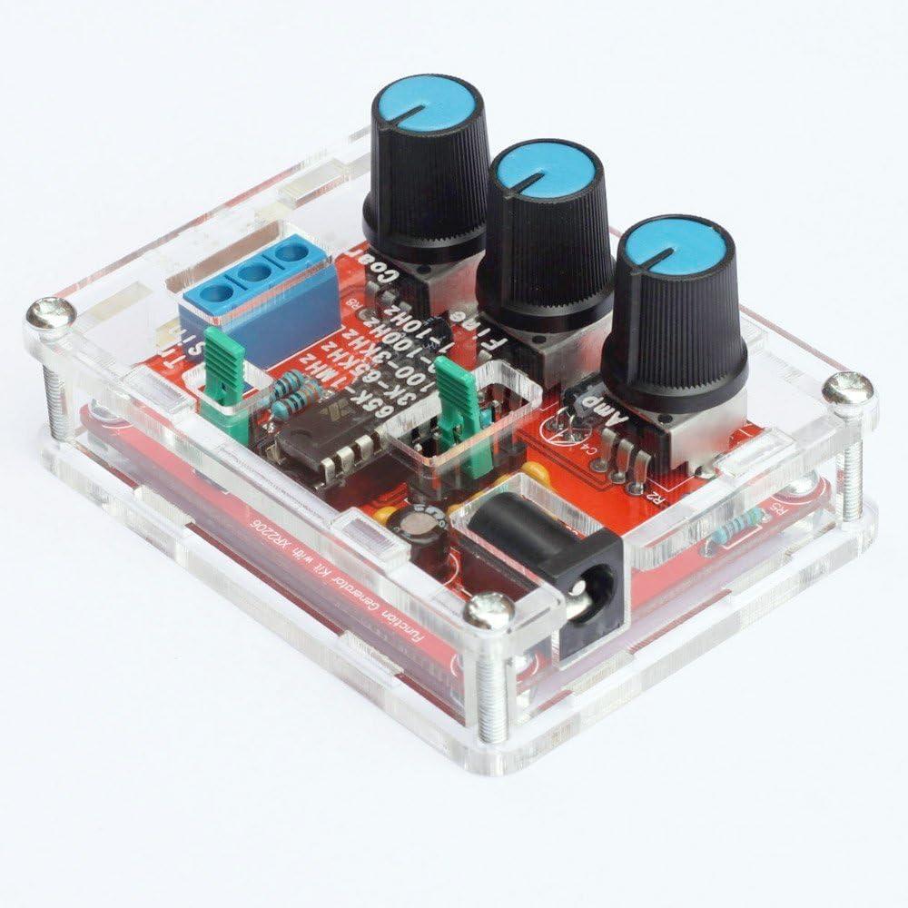 xr2206/G/én/érateur de signaux G/én/érateur de signaux DIY Kit Sinus//Triangle//1/MHz Fr/équence r/églable de sortie 1/Hz carr/ée amplitude