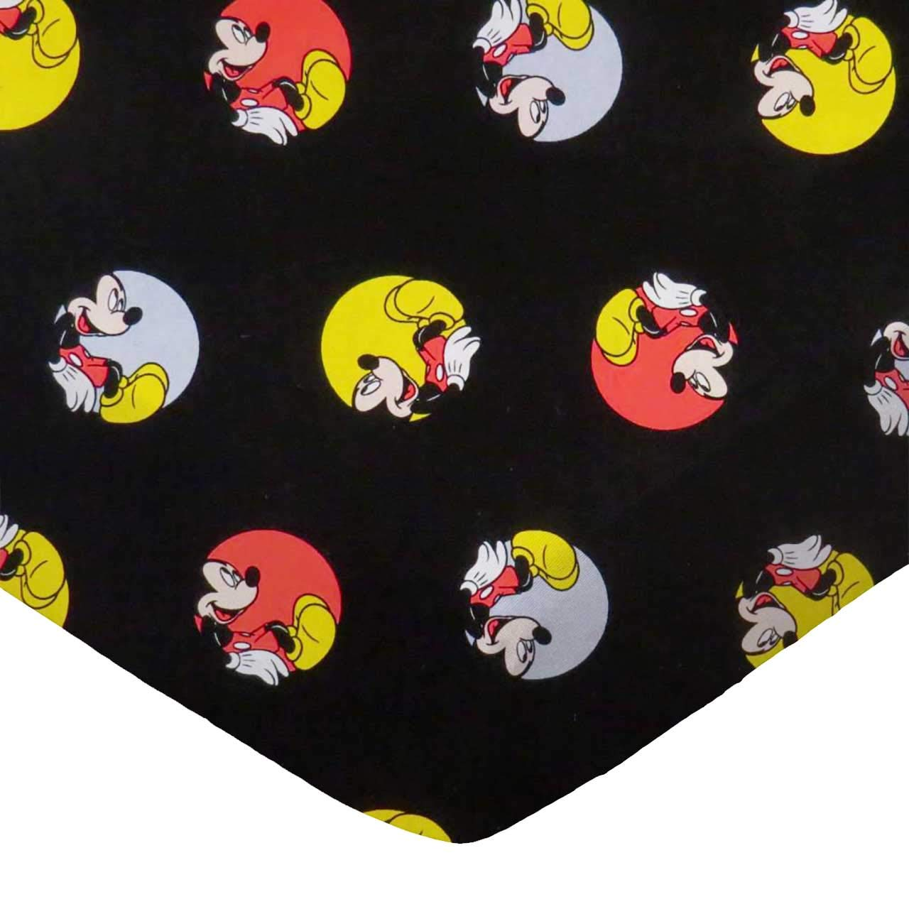 Oh Boy Mickey Mouse SheetWorld Fitted 100/% Cotton Percale Portable Mini Crib Sheet 24 x 38 Made in USA