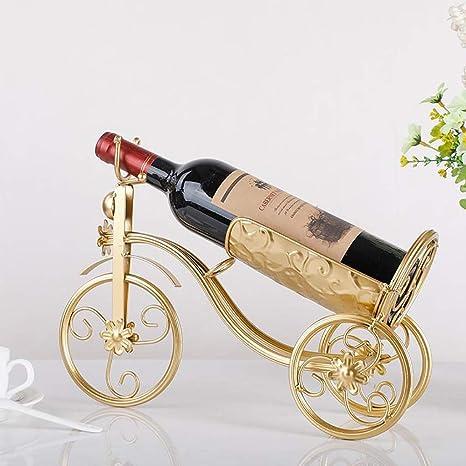 Lwjj Botella de Vino de Metal Ciclista Bicicleta Adorno Decorativo ...