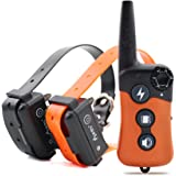 Ipets PET619S-2 Dog Shock Collar with Remote 100% Waterproof & Rechargeable Dog Training Collar with Beep Vibrating Electric Shock Collar for All Size Dogs (10-100lbs)