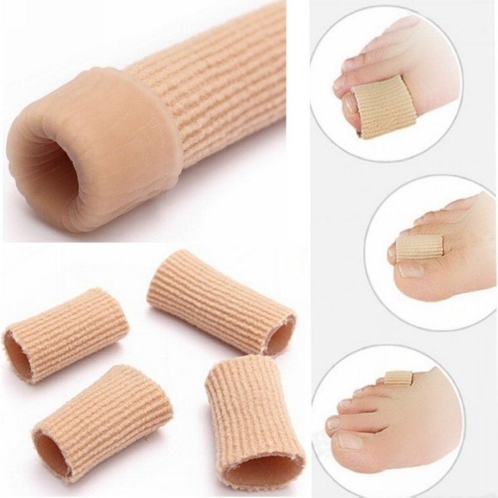 Tubo de gel de tela para separar los dedos de los pies, para aliviar el dolor de pies, callos y callos, protector de blíster HMOCNV