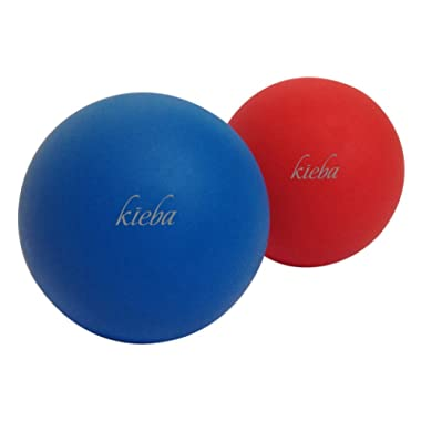 Kieba Massage Lacrosse Balls for Myofascial Release, Trigger Point Therapy, Muscle Knots, and Yoga Therapy. Set of 2 Firm Balls