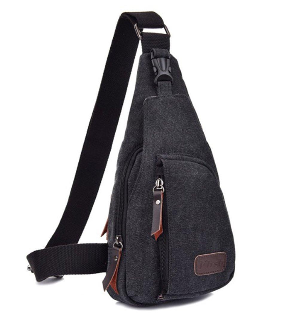 17d8b3a4e0 high-quality Huabor Canvas Unbalance Pack Crossbody Bag Shoulder Bag Chest  Bag for Men