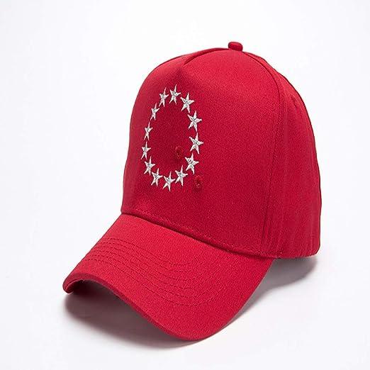 Moda Bordado Estrella de Cinco Puntas Gorra de béisbol Hombres y ...