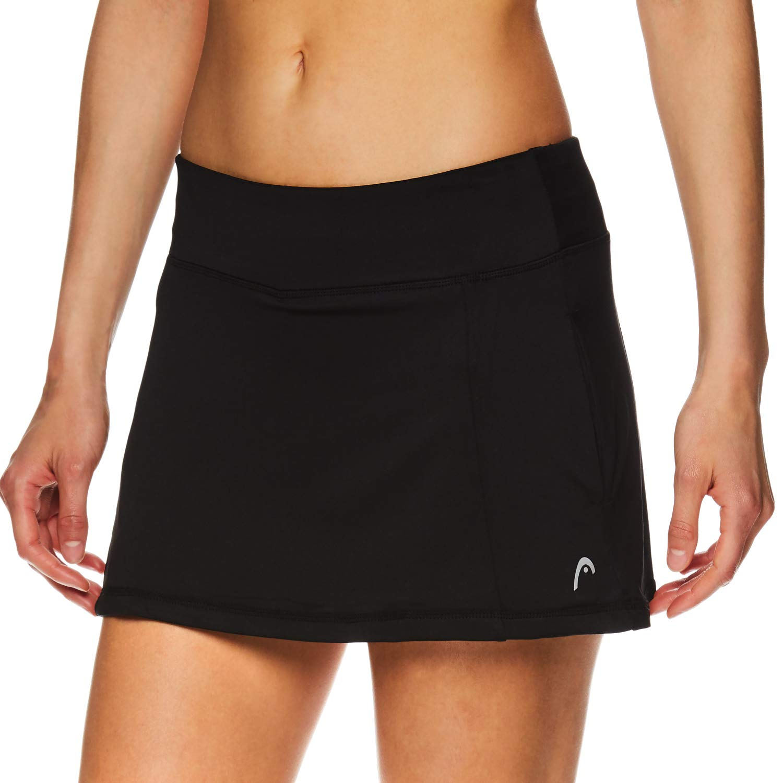 HEAD Women's Athletic Tennis Skort - Performance Training & Running Skirt - Lead Skort Black, X-Small