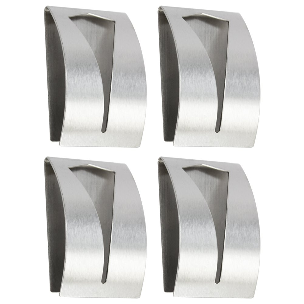 Com-Four® 4 x self-adhesive hand towel hooks made of stainless steel