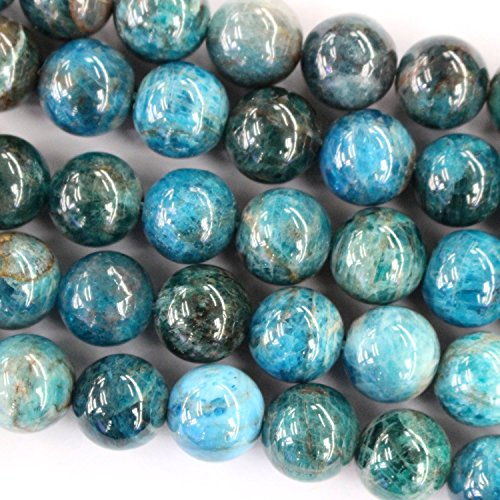 Natural Apatite Round Findings Jewerlry Making Gemstone Beads (8mm)