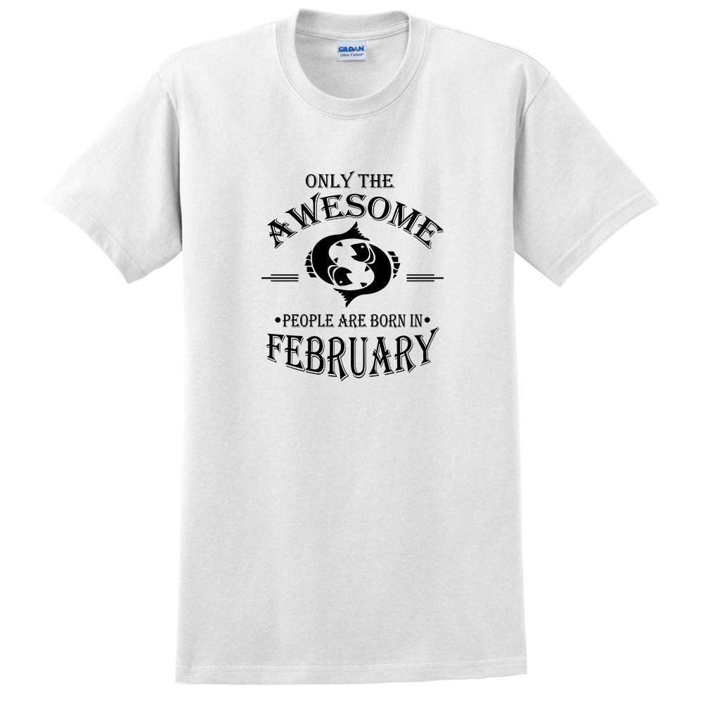 Birthday Pisces t Shirt Only The Awesome People are Born in February