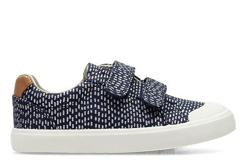 bce5a606134 Clarks Girls Canvas Shoes Comic Cool - Navy Combi Canvas - UK Size 8G - EU  Size 25.5 - US Size 8.5W  Amazon.co.uk  Shoes   Bags