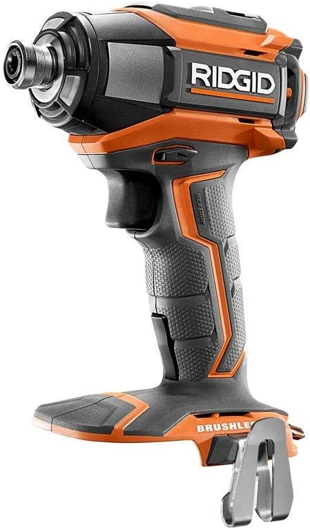 Ridgid R86037 18V Lithium Ion Cordless Brushless Impact Driver w LED Lighting and Quick-Eject Chuck Battery Not Included Power Tool Only