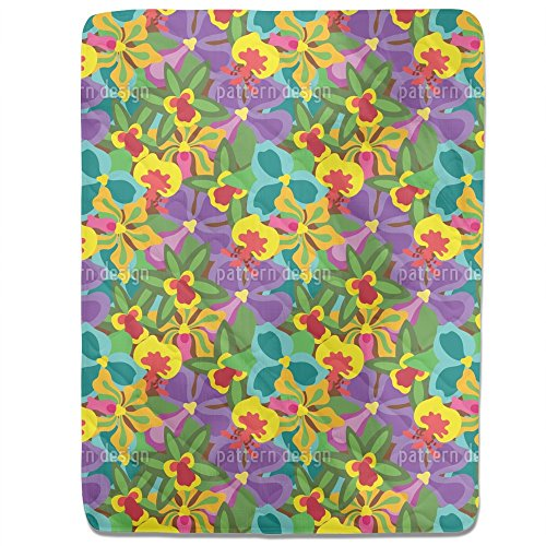 Colorful Orchid Fitted Sheet: King Luxury Microfiber, Soft, Breathable by uneekee