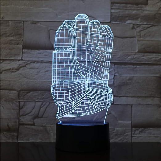 Ilusión óptica Night Light 3D Touch LED Lámpara de ...