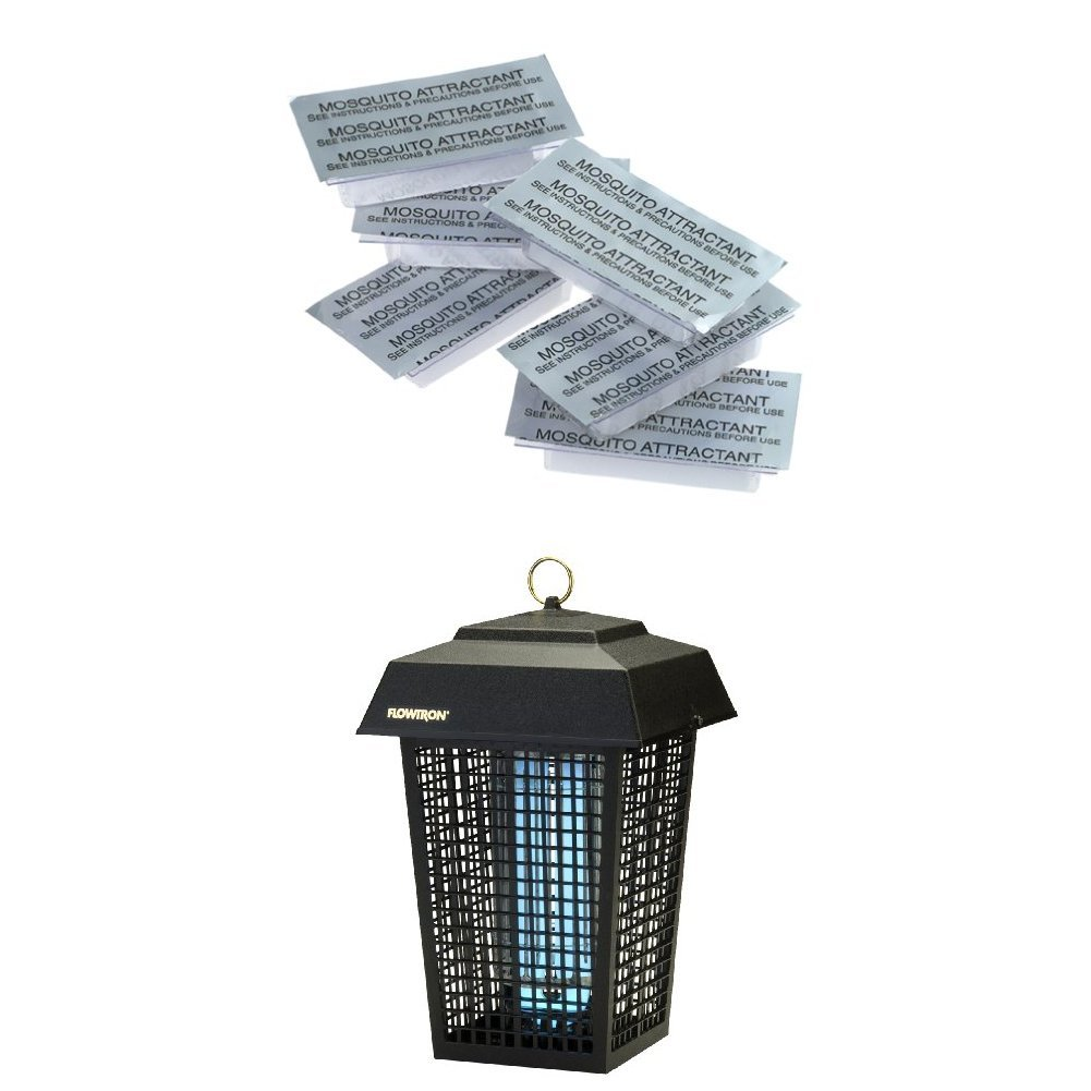 Flowtron MA-1000-6 Octenol Mosquito Attractant Cartridges, 6-Pack WITH Flowtron BK-40D Electronic Insect Killer, 1 Acre Coverage