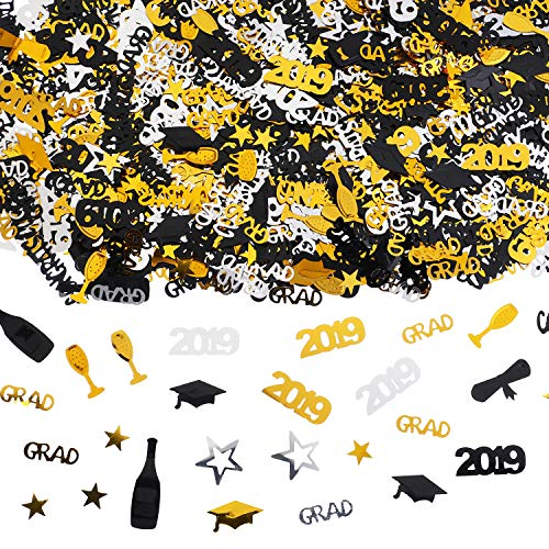 2019 Graduation Confetti Table Scatter Confetti Decoration Graduation Party Supplies for Graduation Party Celebration, 1.8 Ounce, About 3000 Pieces -