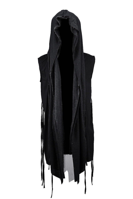 ByTheR Men's Mesh Layerd String Detail Dark Gothic Sleeveless ...
