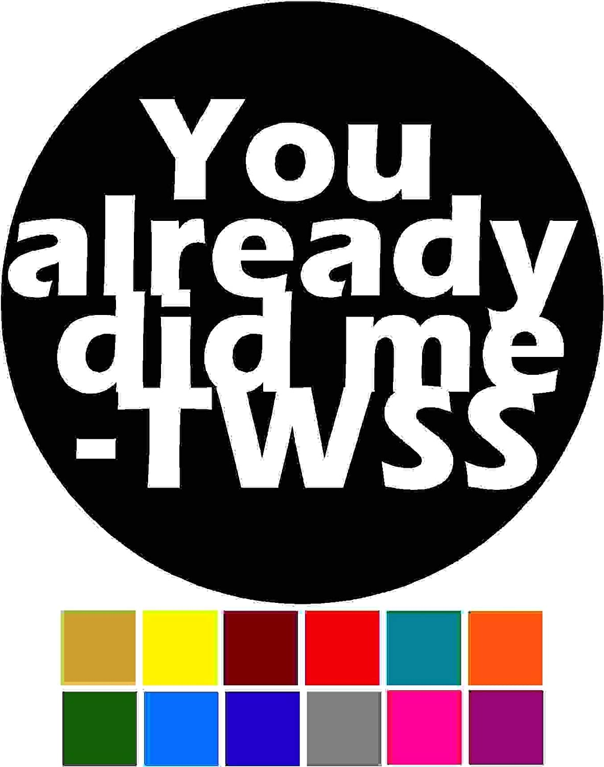 Saying Thats What She Said You Already Did Me Decal Choose Color V and T Gifts