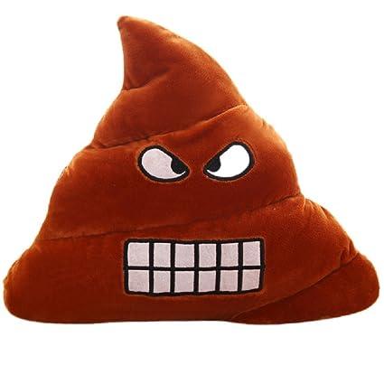 Amazon.com: Caca Emoji Cojín almohadas Stuffed Plush Angry ...
