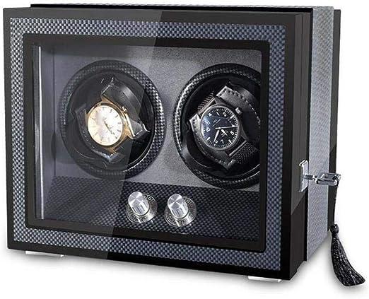 Caja Giratoria para Relojes Automatico,Mira La Cuerda Caja De Enrollador De Reloj Automático, Caja Cargadora para Relojes Caja para Relojes Giratorios, Adecuado para Hombre Y Mujer,Blue: Amazon.es: Jardín