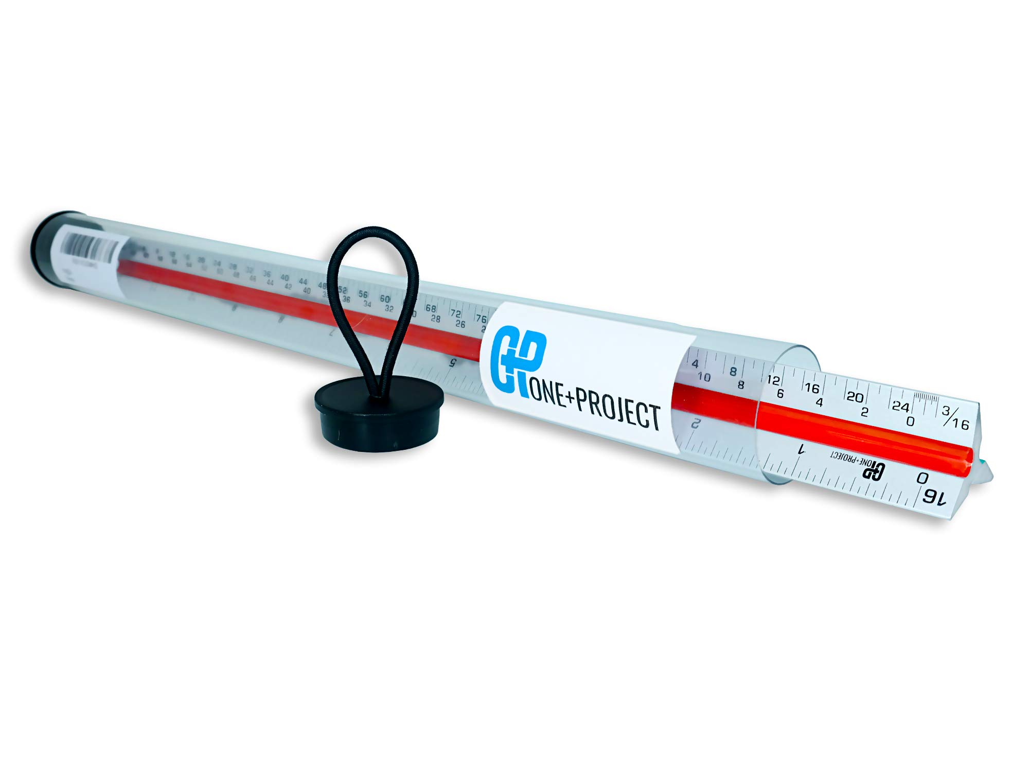 One+Project Triangular Architect Scale,12 – Inch Aluminum Ruler Color – Code Grooves with Protective Carrying Case - Imperial Measurements by One+Project (Image #7)