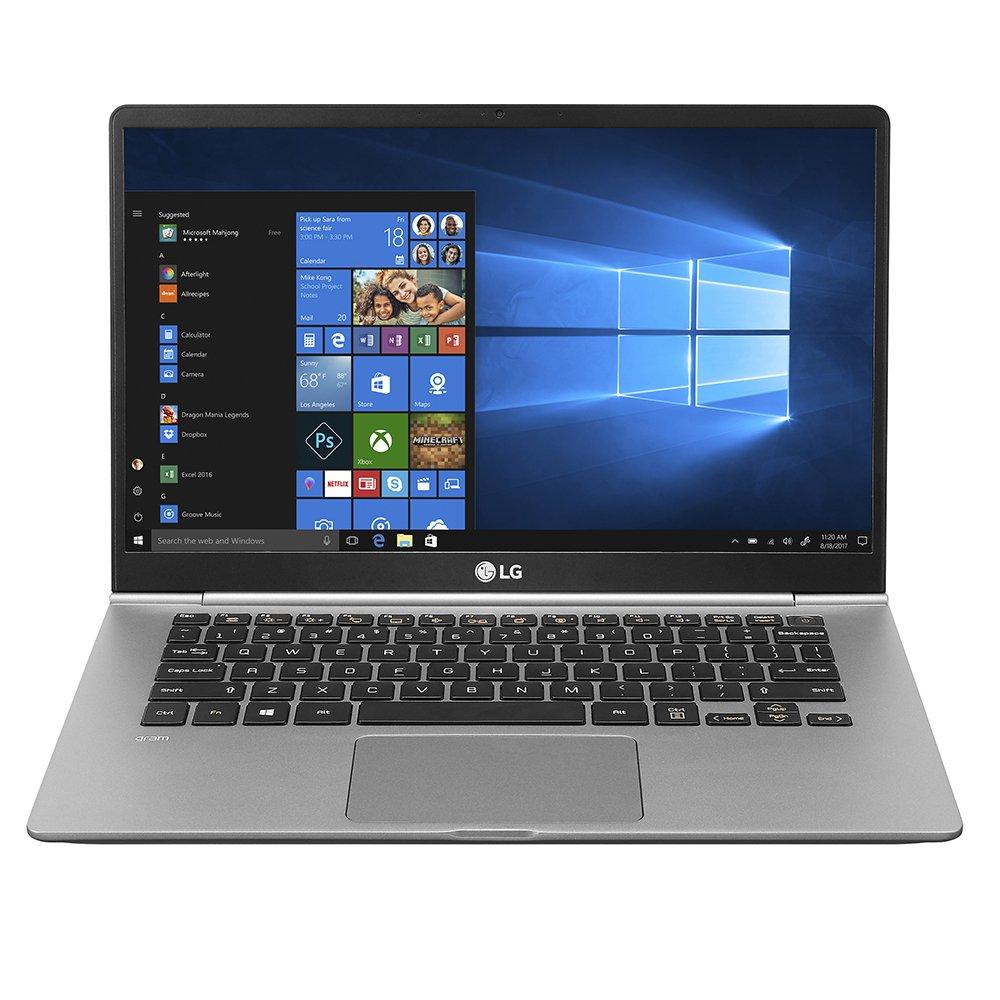 "LG Gram Thin and Light Laptop - 14"" Full HD IPS Touchscreen Display, Intel Core i7 (8th Gen), 8GB RAM, 512GB SSD, Back-lit Keyboard - Dark Silver – 14Z980-A.AAS7U1"
