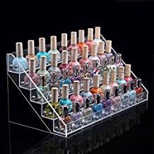 SortWise ® 5 Tier Acrylic Lipstick Organizer Nail Polish Makeup Case Cosmetic Stand Display Rack Holder, Holds Up to 45 Bottles in Standard
