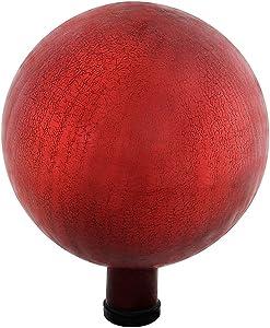 Achla Designs G10-RD-C Gazing, Red 10 inch Glass Garden Globe Ball Sphere, 10