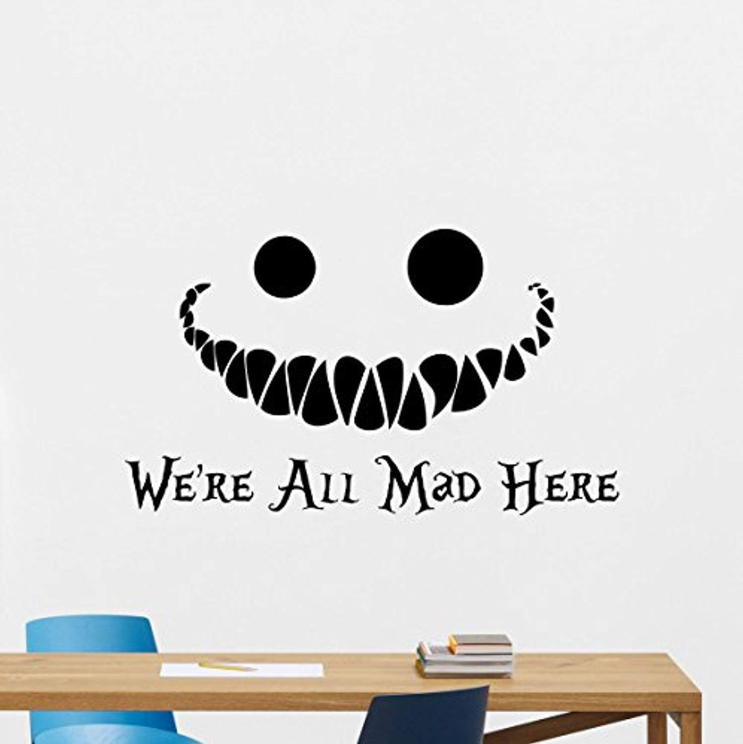 Alice In Wonderland Cheshire Cat Vinyl Car Cartoon Windows Wall Sticker Decor