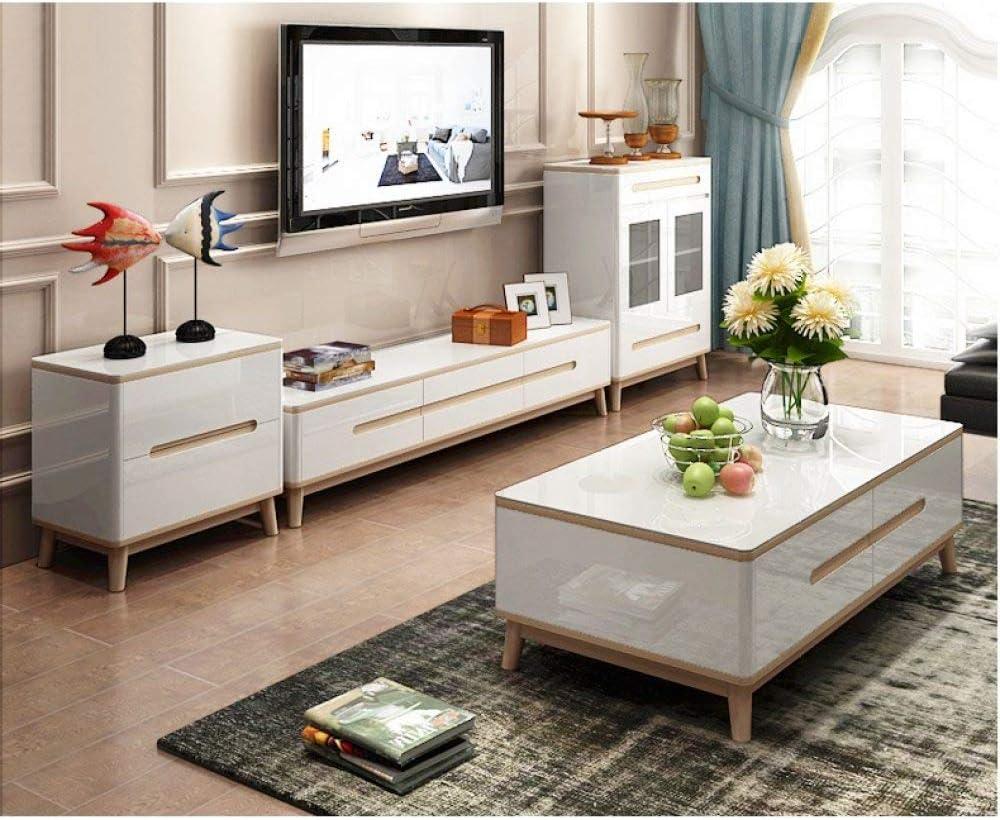 LGFSG Mueble para TV Sala de Estar Muebles para el hogar Mesa de Centro Minimalista Estilo Moderno mesas de Madera Mesa Rectangular Blanco, Blanco: Amazon.es: Electrónica