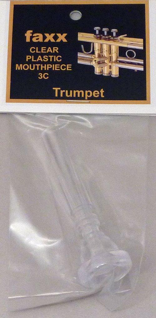 Faxx Clear Plastic Trumpet Mouthpiece 3C