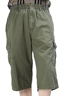 fcc62587254c Heheja Herren Bermuda Cargo Shorts Männer Kurze Hosen 3 4 Lang mit Taschen