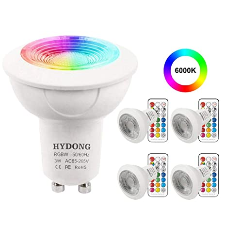 Wall RGB LampRecessed by LED GU10 Bulb12 LampTrack Bulbs3W Changing WhiteDimmable Remote Cold Control for Keys 24 Colour Colors Spotlight WerodCBx