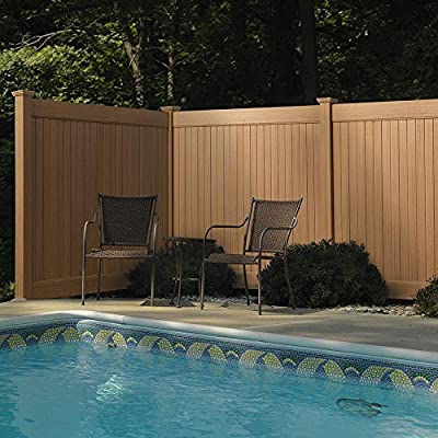 5 in. x 5 in. x 8 ft. Cedar Grove Weathered Cedar Privacy Fence Line Post