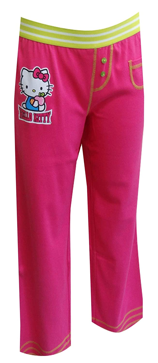 82b985061 Amazon.com: Hello Kitty Women's Apple of My Eye Hot Pink Capri Lounge Pants:  Clothing