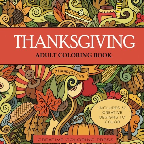 Thanksgiving Adult Coloring Book Holiday product image