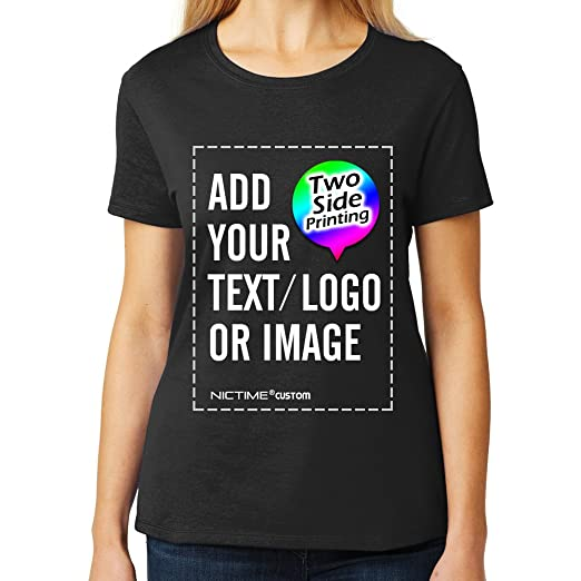 9209681b Custom Women's T-Shirts Design Your Picture Text Personalized Feme Tee  Shirts