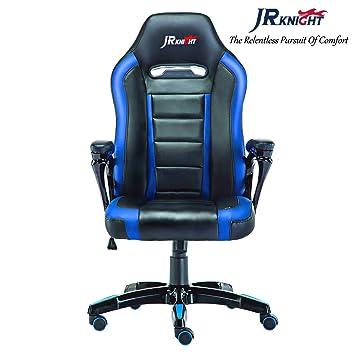 JR Knight Racing Silla X, piel sintética, silla de escritorio para videojuegos, silla