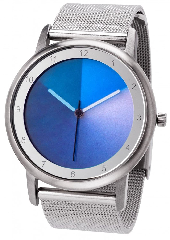 Avantgardia blues (NEUES DESIGN) – Rainbow e-motion of color Unisex Armbanduhr EdelstahlgehÄuse