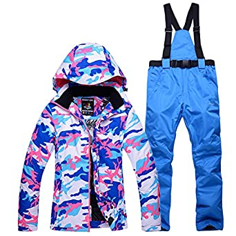 HUA&X Las mujeres coat ski pantalones rompevientos impermeable ...