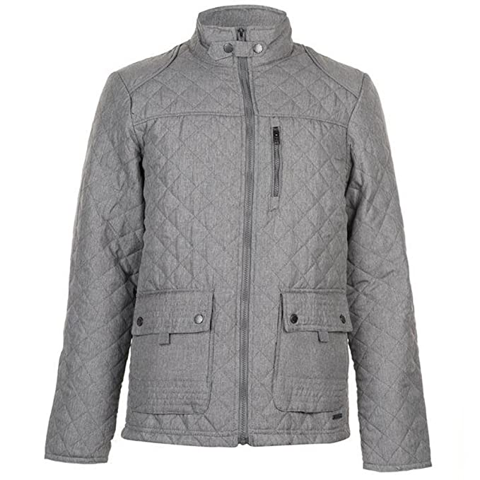 Pierre Cardin Mens Diamond Quilted Jacket with Herringbone Tape Detail at Amazon Mens Clothing store: