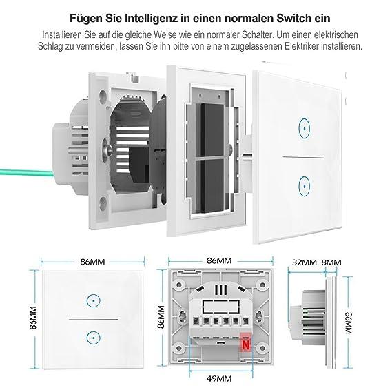 Smart Alexa Lichtschalter, Opard Smart Home Lichtschalter arbeitet ...