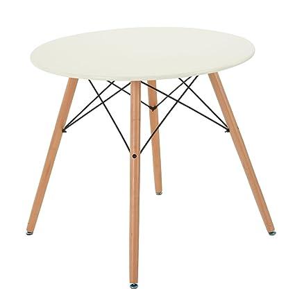 FurnitureR, tavolo da pranzo rotondo, in stile retrò moderno con ...