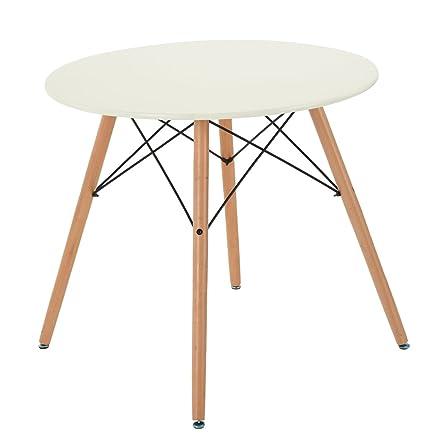 FurnitureR ltd Tavolo da pranzo rotondo stile moderno retrò ...