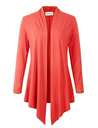 79b1ccfa826 Women Open Front Cardigan Plus Size Drape Long Sleeve Lightweight Cardigans  S-3X(S