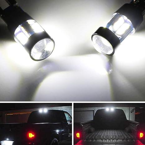 iJDMTOY Juego de 2 bombillas LED de alta potencia de xenón blanco para repuesto de tercera ...