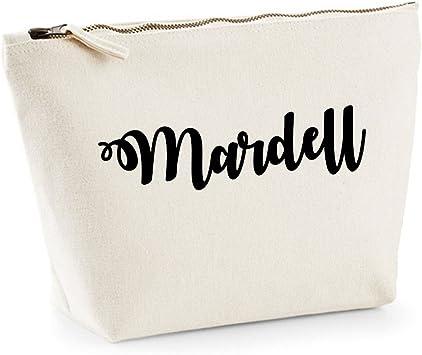 mardell nombre personalizado lona de algodón bolsa de accesorios ...