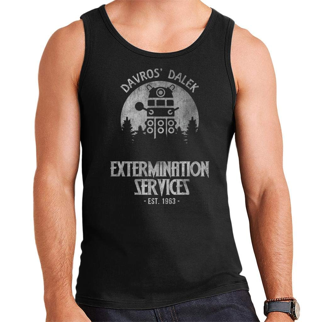 PHJFDJ Davros Dalek Extermination Services Doctor Who Mens Vest