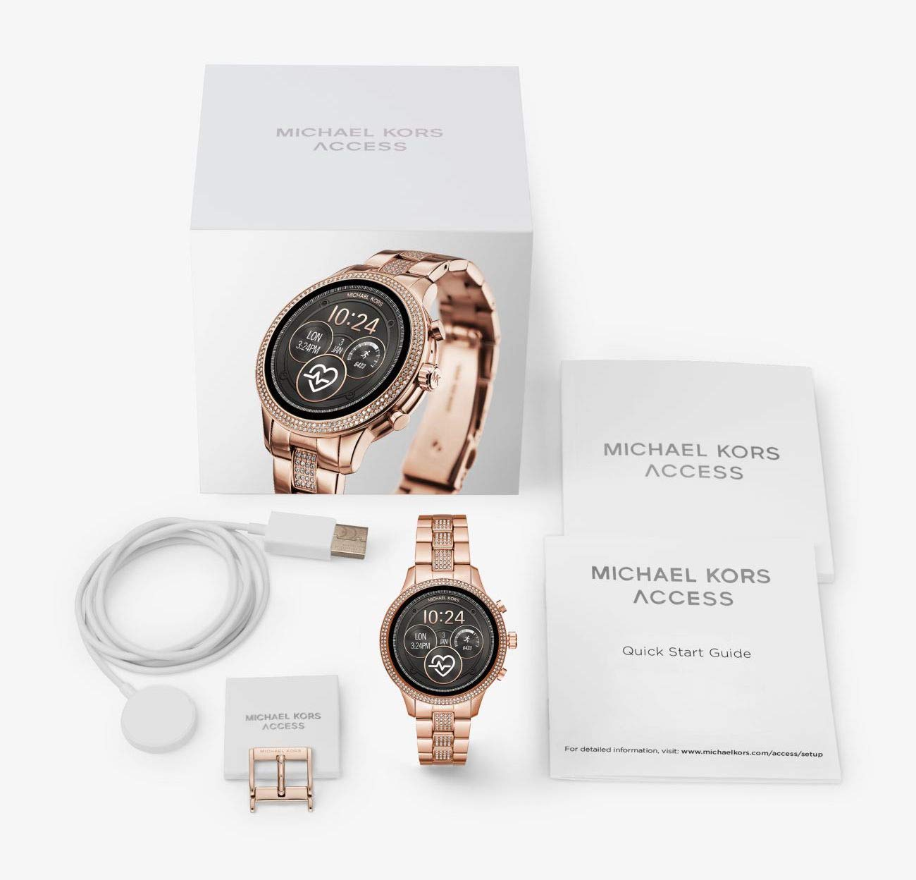 Michael Kors Access Runway Smartwatch – Powered with Wear OS by Google with Heart Rate, GPS, NFC, and Smartphone Notifications