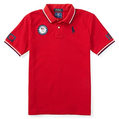 Ralph Lauren Childrenswear Boys\u0027 USA Olympic Team Tech Polo Shirt (X-Large (