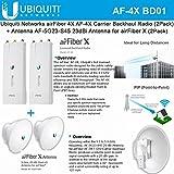 Ubiquiti airFiber AF-4X (2Pack) Backhaul Radio 4GHz 200km + Antenna AF-5G23-S45 (2Pack) 23dBi PtP